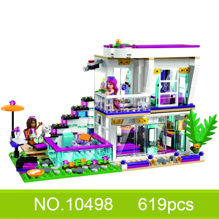 Best Friend Girl Series Livi's Pop Star House model Building Bricks Blocks Set Bricks Toys Compatible Friends image