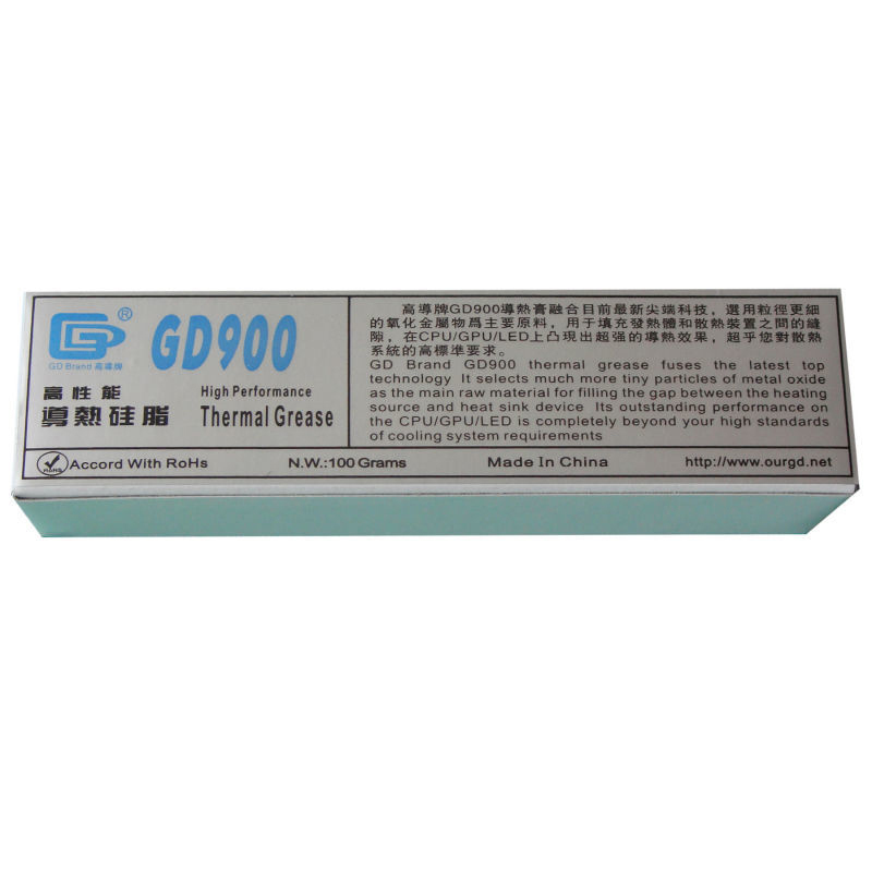 GD900 Gray Net Weight 100 Gram Thermal Grease Silicone High Performance For Heat Sink For CPU GPU Cooler ST100 Thermal Compound gd450 thermal conductive grease paste silicone plaster heat sink compound net weight 1000 grams golden for led cpu cooler cn1000
