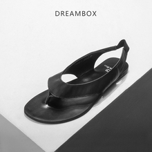 dreambox2017 The British males's summer season breathable pinch Leather Flip Flops all-match leather-based sandals sandals