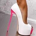 Mulheres de Salto Alto Bombas 2016 Plataforma de Moda Vestido de Mulher Sexy Ladies Peep Toe Mulheres Sapatos tamanho 34-40