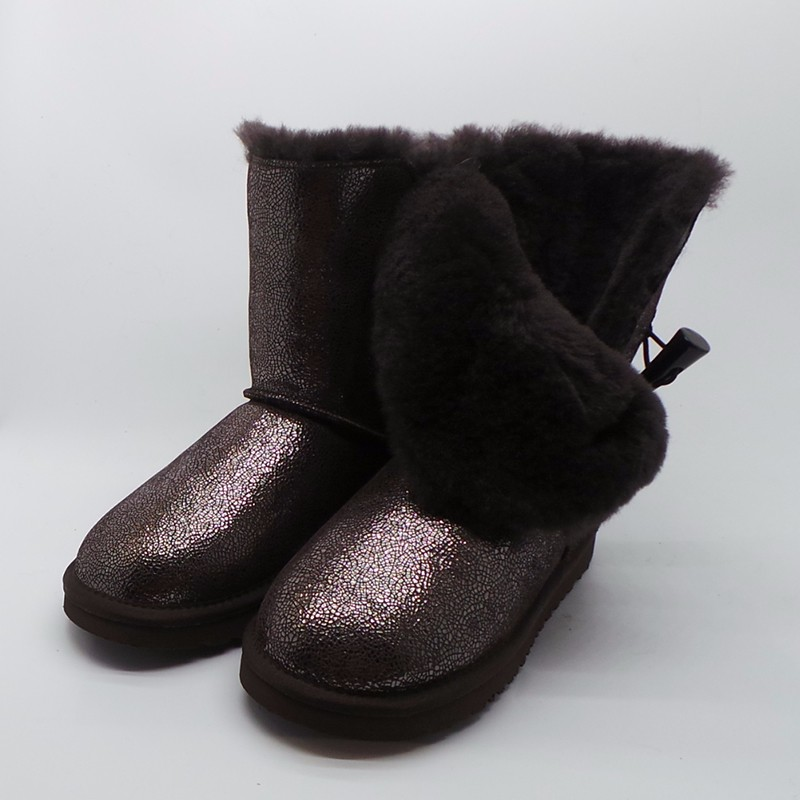 Подробнее о Fashion Hot Sale Women Snow Boots Mid-Calf  Boots Women Waterproof 100 % Genuine Leather Snow Boots Warm Winter women Boots genuine sheepskin leather snow boots hot sale women100
