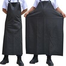 Neue Öl wasserdicht Schürzen Sleeveless Kochen Männer Schürzen Küche Restaurant Hotel Erwachsene Chef Schwarz PVC Schürze Für Frauen