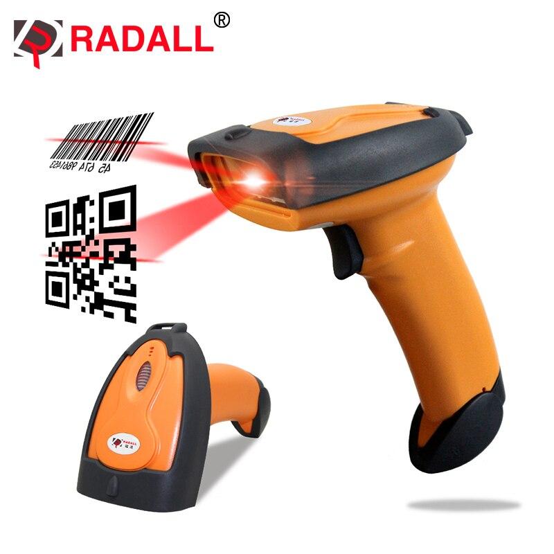 Handheld Laser 2D Barcode Scanner USB QR Code Reader PDF417 Wired codes scaning for POS sysytem - RD-8099 стоимость