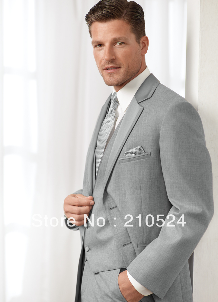 mens suits and tuxedos jacket vest tie pants light grey 2013-in ...