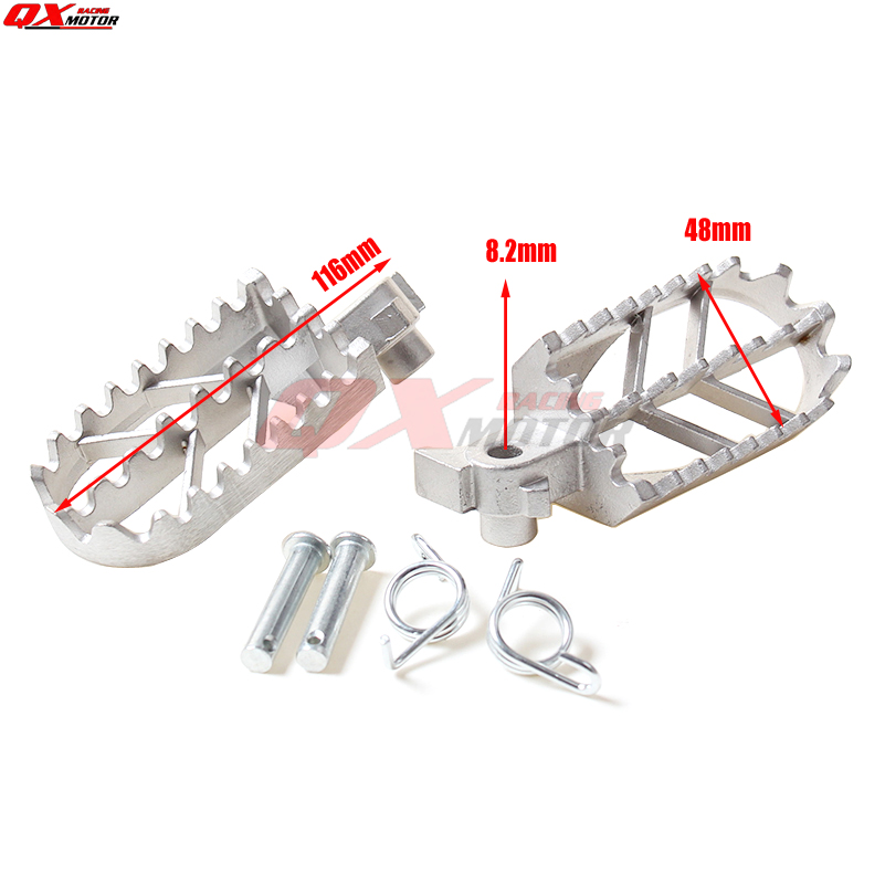 Stainless Steel Footpegs Foot Pegs For XR 50 CRF 70 KLX 110 Thumpstar SDG SSR Pit Dit Bikes Free Shipping