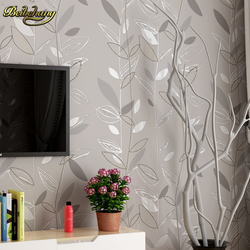beibehang Modern fashion autumn leaves mural wallpaper for walls 3 d Wall Paper For Bedroom Living Room wall papers home decor diamond wallpaper for walls 3 d mural wallpapers wall decor textile for living room diamond wall paper gold blue coffee
