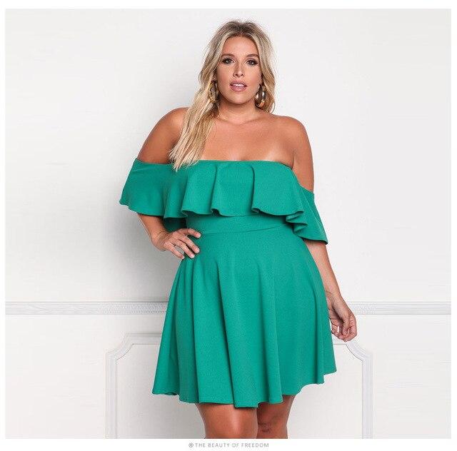 Vestidos verde con negro