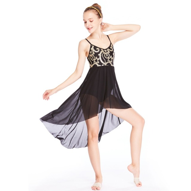 9fa5bb58d Sequins Elegant Lyrical Dance Costumes Skating Performance Costumes Modern  Ballet Figure Skating Competition Costumes