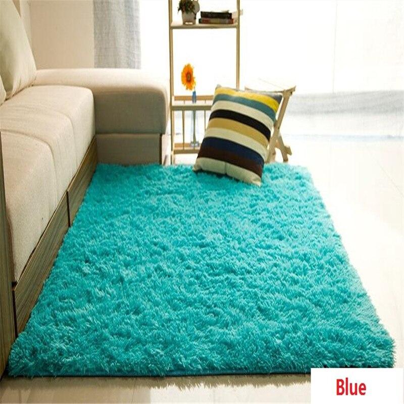 Livraison gratuite Super doux Rectangle Shaggy ivoire tapis pour salon salle à manger chambre tapis/tapis/tapis enfants jouer tapis de Yoga résistant à la poussière