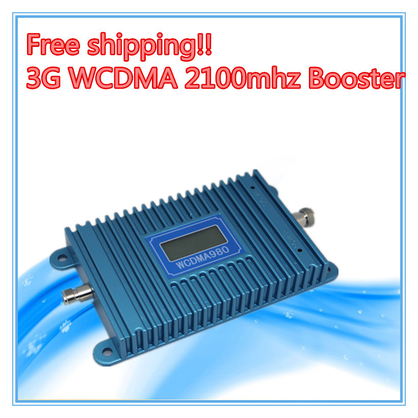 LCD Display !!! W-CDMA 980 Signal Booster WCDMA 3G Signal Amplifier 3G Mobile Phone 2100Mhz Signal Repeater + Power Adapter