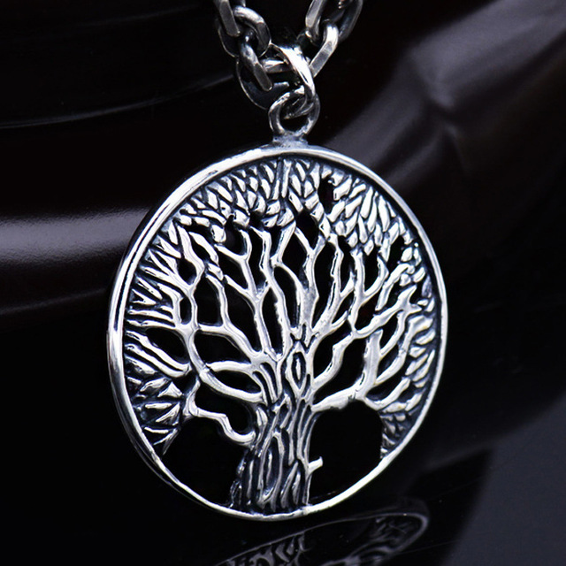 S925 retro thai silver life tree pendant wave mens silver jewelry necklace pendant fashion couple wholesale in pendants from jewelry accessories on s925 retro thai silver life tree pendant wave mens silver jewelry necklace pendant fashion couple wholesale Images