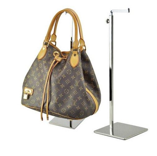 Adjustable Metal Handbag <font><b>Display</b></font> Rack Women Handbag Bag <font><b>Display</b></font> Stand Holder wig hat scarves hook stand