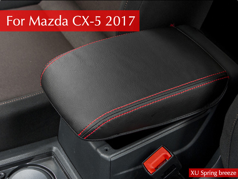 For Mazda CX-5 CX5 2017 2018 KF 2nd Gen Armrest Console Pad Cover Cushion Support Box Armrest Top Mat Liner Car Stickers for mazda cx 5 cx5 2017 2018 2nd gen lhd auto at gear panel stainless steel decoration car covers car stickers car styling