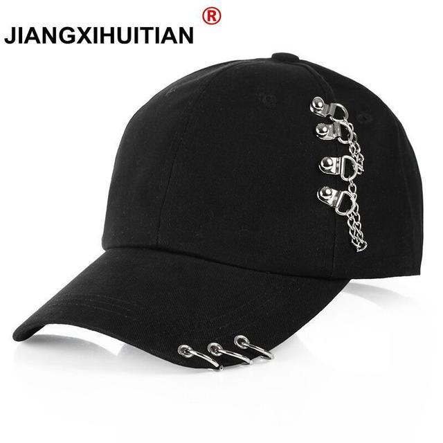0db46421714 2018 Adult BTS Casual Solid Adjustable Iron Ring Baseball Caps Snapback Cap  Casquette Hats Fitted Casual Gorras Dad Hats