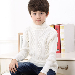 Image 4 - 2020 New Autumn Winter Boys Sweater Long Sleeved Round Collar Pullover Sweater Pure Color Knitting Fashion Children Clothes