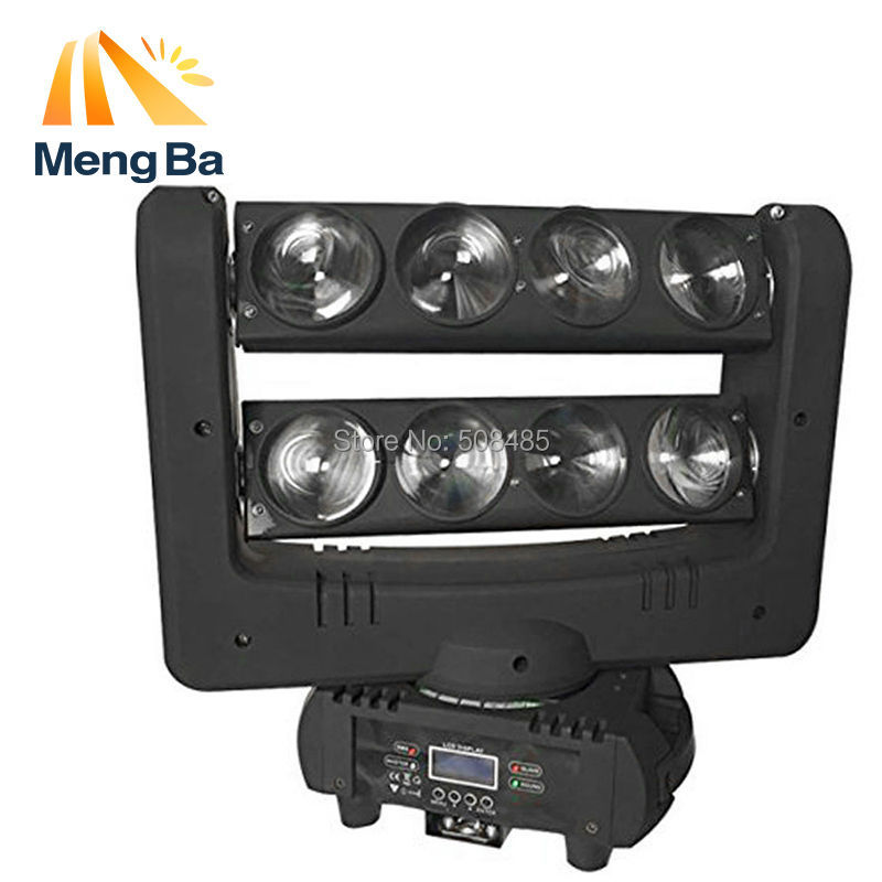 Fast Shipping Super 8x10w CREE RGBW 4-In-1 Beam Light DMX Spider Light Double-Deck Moving Head Light Stage DJ /Bar/Home/Wedding
