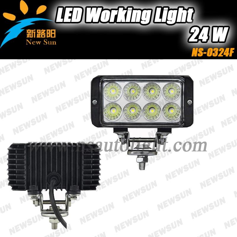 ФОТО Auto accessories IP68 led lights for marine truck atv offraod 8*3w high intensity 4.5'' 24W led working headlights running light