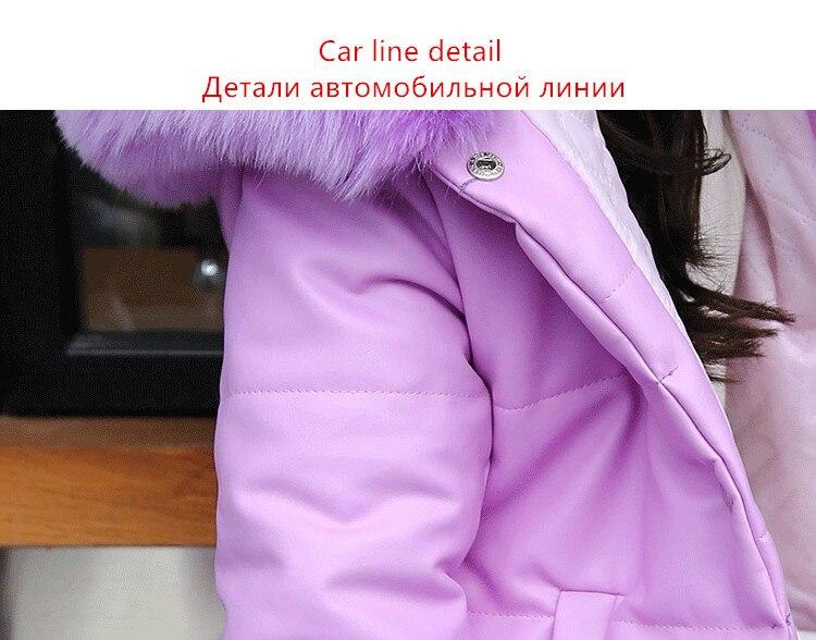 Plus Jackets Big Hooded Kids Fur Winter Windproof Faux Velvet Collar Girls Jacket Coats Girl Long Warm dCBxroe