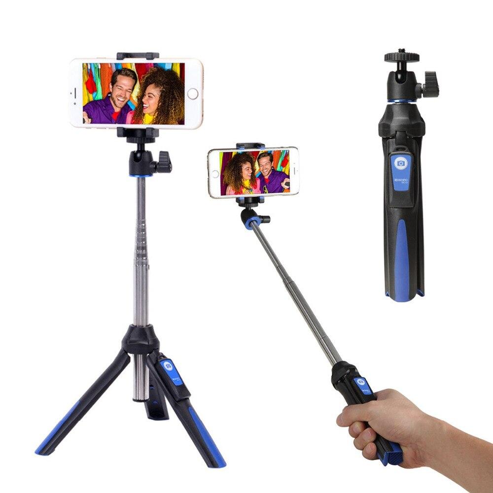 BENRO MK10 Handheld mini Stativ Einbeinstativ 3 in 1 Telefon Selfie Stick drahtlose Bluetooth-fernauslöser für iPhone Sumsang Gopro