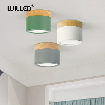 Soffitto in legno lampada 5w led Imbottiture luce in legno chiaro Luci da incasso lampade Apparecchi di Illuminazione soggiorno Imbottiture luci Nordic Ferro per corridoio