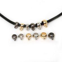 50 unids/lote oro/rodio/bronce de plástico colgante Clip broche collar conector fianza granos encantos para pulsera DIY joyería