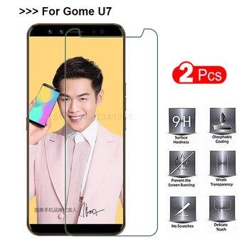 2 uds. De vidrio templado para Gome U7 Protector de pantalla a prueba de explosiones Smartphone película protectora de vidrio funda de pantalla para Gome u 7