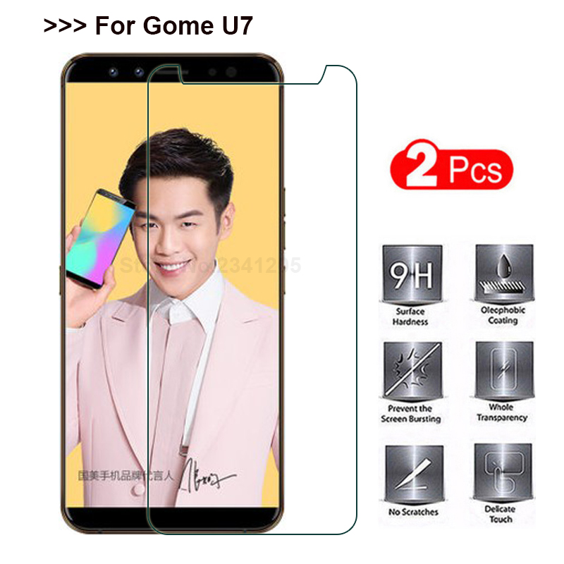 2PCS Tempered Glass for Gome U7 Screen Protector Explosion-proof Smartphone Protective glass Film Screen cover case for Gome u 72PCS Tempered Glass for Gome U7 Screen Protector Explosion-proof Smartphone Protective glass Film Screen cover case for Gome u 7