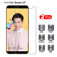 2PCS Tempered Glass for Gome U7 Screen Protector Explosion-proof Smartphone Protective glass Film Screen cover case for Gome u 7