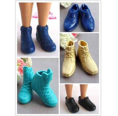 Free shipping Mix Style Mix Color Boyfriend shoes For Barbie Doll miniature accessories hot
