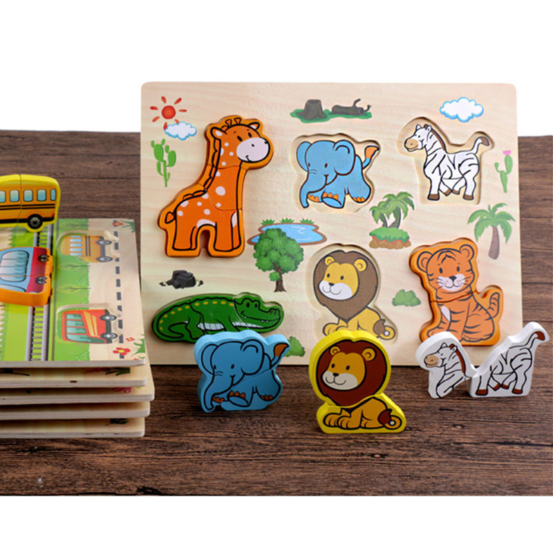 New Arrival Baby Toys 3D Puzzle Wooden Toys Carton Animal/Fruit/ Vehicle Matching Board Children Educational Birthday Gift new arrival ben 10 omnitrix watch alien force illuminator watch lights n sound ben10 toys children birthday gift wmq 001a