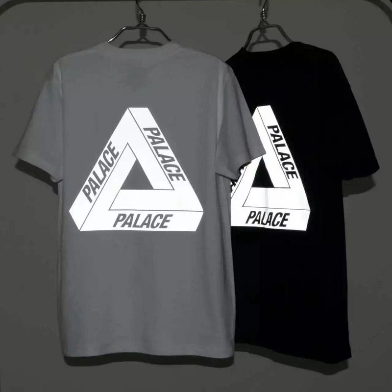 ba2c6422ba06 3M Reflective Palace T shirt Men 100% Cotton High Quality Palace  Skateboards T Shirt Triangle Print Sports Tee Palace T shirt-in T-Shirts  from Men s ...