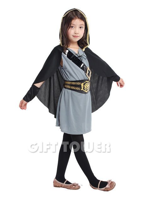 Girls Hooded Huntress Costumes Halloween Cosplay Clothes For Children Performance Dress Carnival Fancy Dress Game Uniforms  sc 1 st  AliExpress.com & Girls Hooded Huntress Costumes Halloween Cosplay Clothes For ...