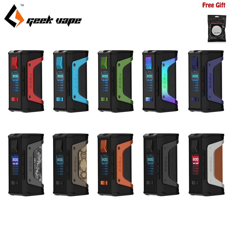 D'origine Geekvape L'égide Légende 200 w Mod Électronique cigarratte TC Geek Vaporisateur Boîte MOD Alimenté par Double 18650 batteries e cig