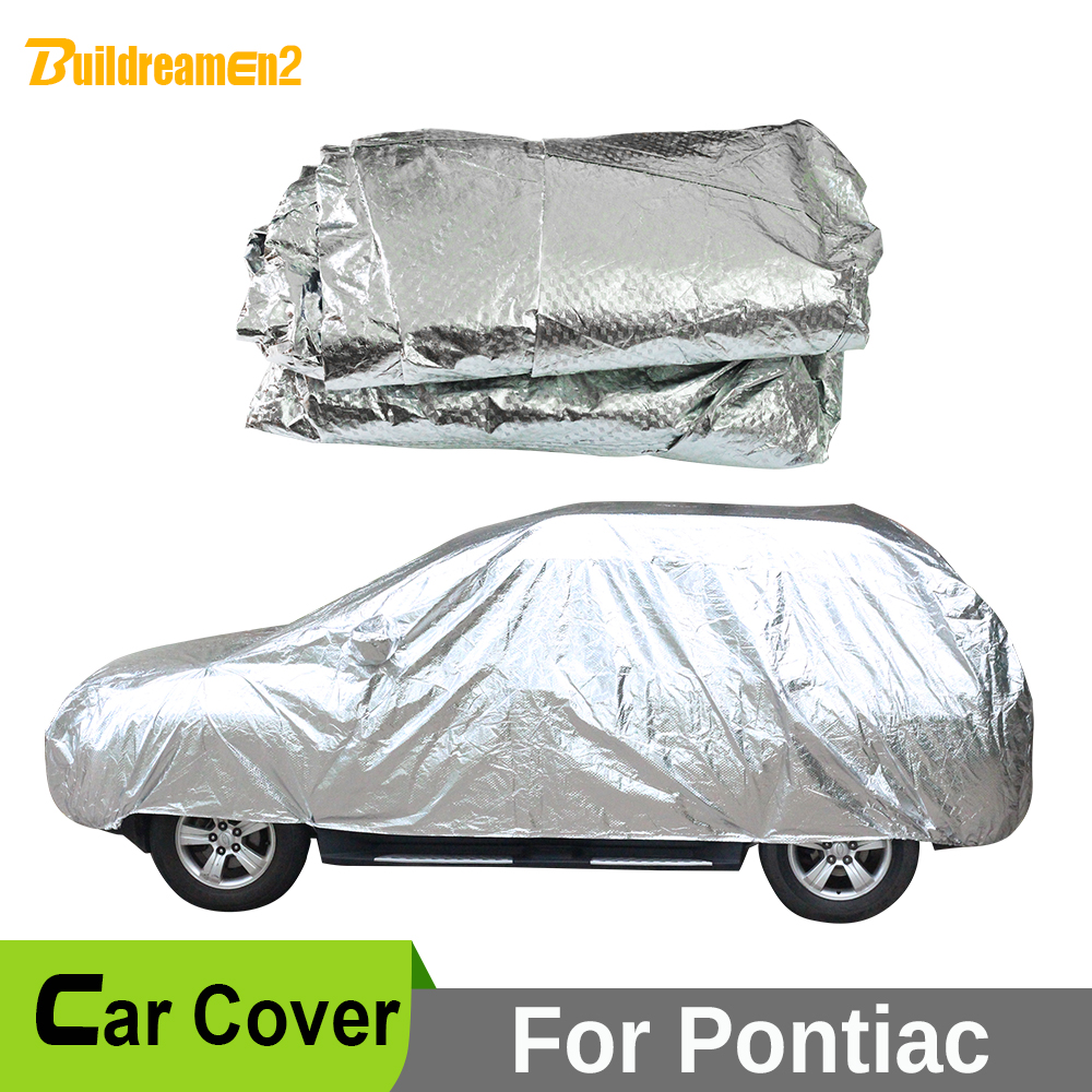 Buildreamen2 Car Cover Anti UV Sun Shade Snow Rain Hail Scratch Resistant Waterproof Car Cover For Pontiac G3 Aztek Torrent Vibe buildreamen2 car cover waterproof suv anti uv sun shield snow hail rain dust protective cover for gmc terrain acadia envoy yukon