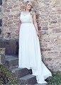 Элегантные Линии Кружева Плюс Размер Свадебные Платья Свадебные Платья novia Лето Шифон Пляж Свадебные Платья