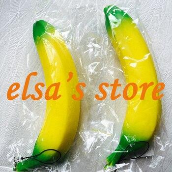 squishies wholesale 20pcs Banana Squishis Slow Rising Phone Straps Kawaii Fruit Squishy Kitchen Decor Kids Toys Gifts