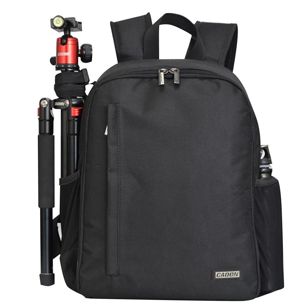 Multi-functional DSLR Backpack Outdoor Digital Camera Zipper Can be used for camera. Black Travel Bag