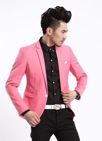 Aliexpress.com : Buy Autumn Spring Stylish Men's One Button Slim ...