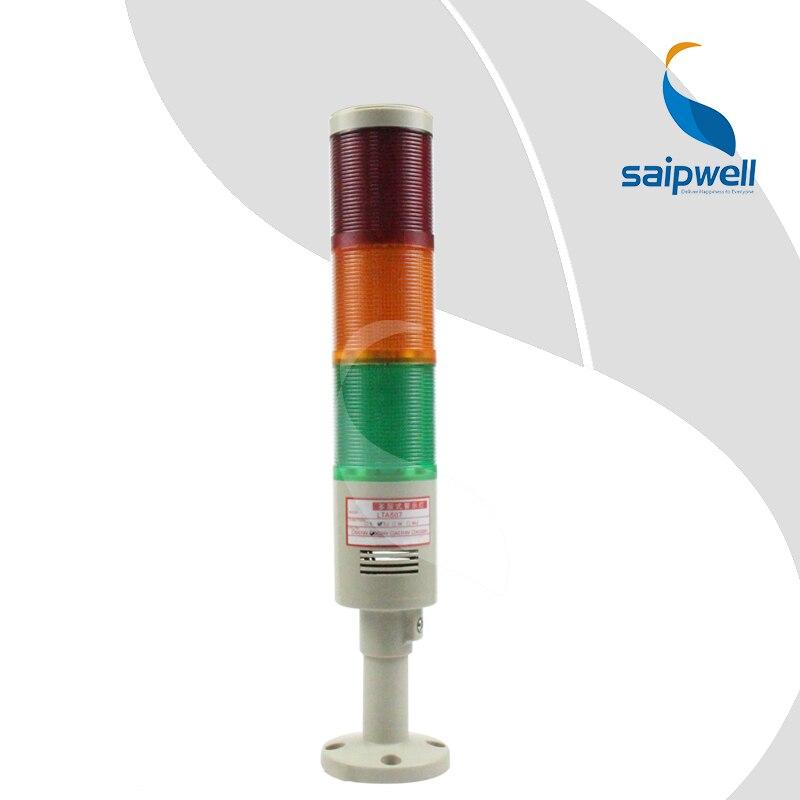 IP44 étanche 3 niveaux led signal rouge en 12/24/110/220/380 V AC/DC témoin lumineux lampe industrielle tour