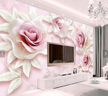3d floral Wallpaper Photo Wall Paper Living Room Bedroom Decor papel pintado pared rollos wall papers home decor 3d rose flower