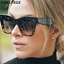 Gradient Sunglasses Designer-Frame-Lens Women Brand Shades Fashion-Eyewear Classic UV400