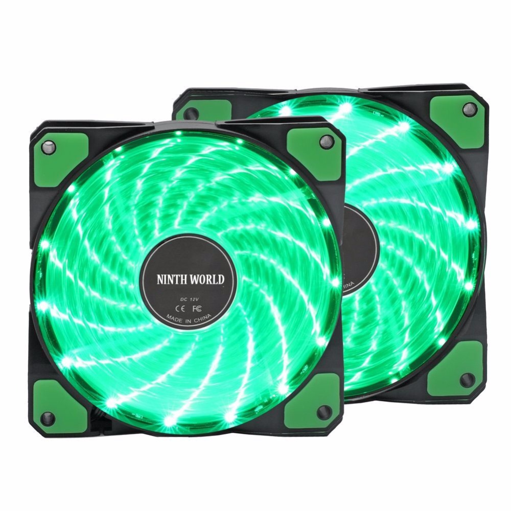 12VDC 3P IDE 4pin <font><b>120mm</b></font> <font><b>PC</b></font> Computer 16dB Ultra Silent 15 LEDs Case <font><b>Fan</b></font> Heatsink Cooler Cooling Anti-Vibration Rubber,12CM <font><b>Fan</b></font> image