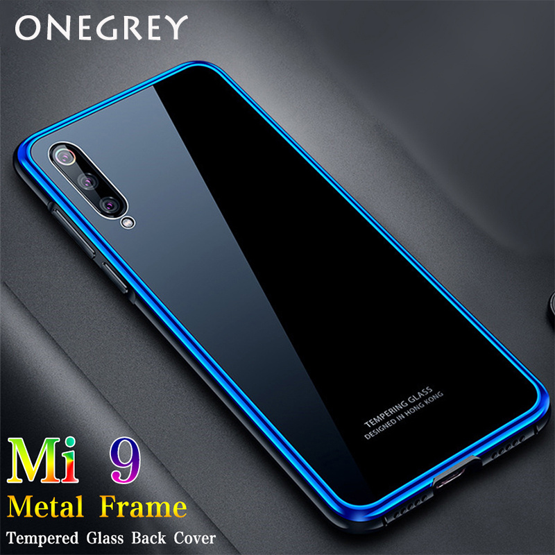 Case for <font><b>Xiaomi</b></font> Mi 9 2019 <font><b>Mi9</b></font> Transparent Edition <font><b>Global</b></font> <font><b>128gb</b></font> Luxury Metal Bumper Aluminum Frame Hard Tempered Glass Back Cover image