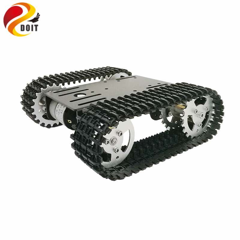 DOIT 2018 New Arrival mini T101 Smart Robot Tank Chassis Tracked Car Platform with 33GB-520 Motor for Arduino DIY Robot Toy Part cheap robot tank chassis platform diy chassis smart track huanqi for arduino sinoning sn700
