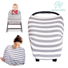 Multi-Purpose Car Seat Cover Infant Lightweight and Breathable Safe Baby Nursing Cover Stretchy Breastfeeding Cover Scarf