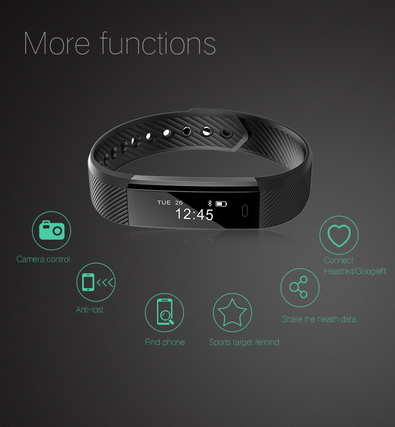 TK47 Fitness Tracker Smart Wristband Bluetooth 4.0 Sleep Monitor Sport Bracelet Smart Band For iOS Android pk Fit Bit mi band 2 5