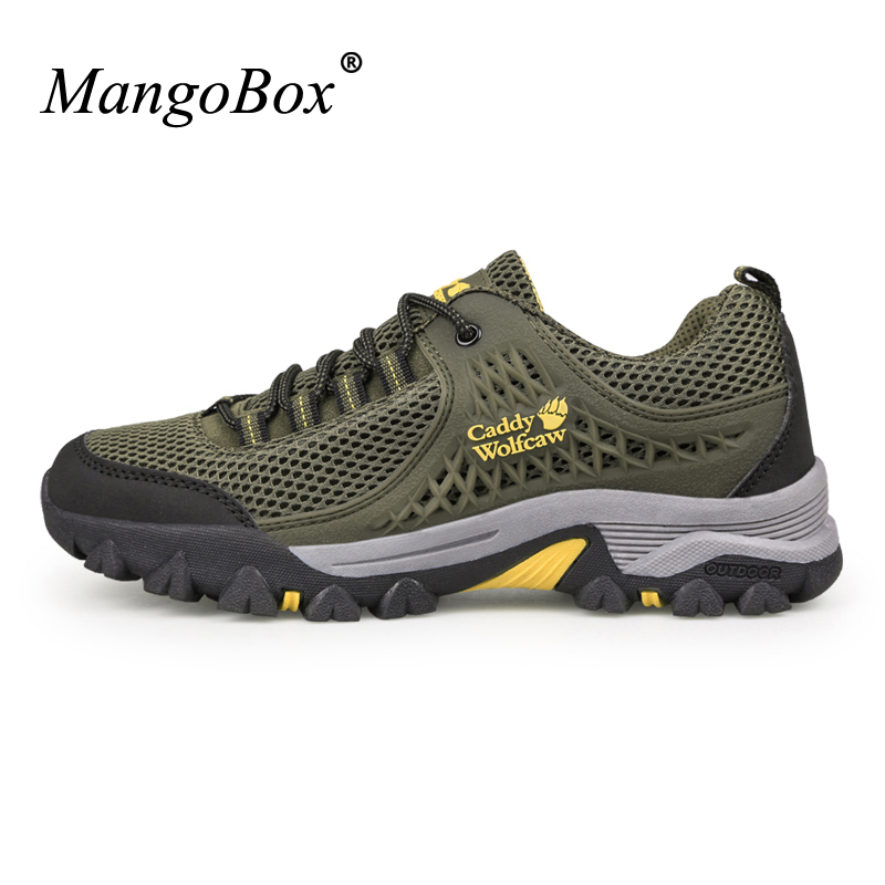Outdoor Men Trekking Shoes Big Size 11 12 13 Men Hiking Sneakers Sport Shoes Breathable Climbing Mountain Boots Mens Plus Size