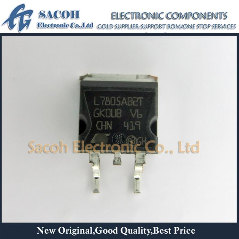 10pcs L7805ABD2T PRECISION 1A REGULATORS ST TO263