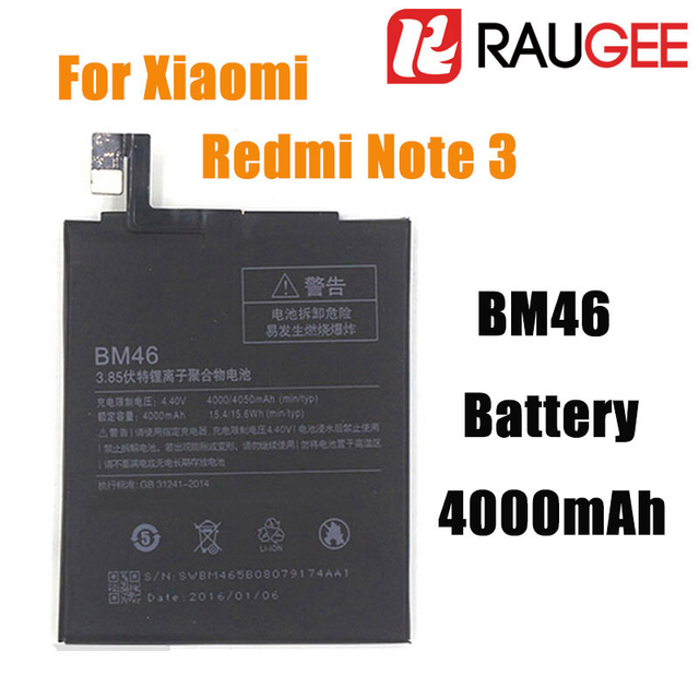 In Stock High Quality 100% Brand New 4000mAh BM46 Back Up Replacement Battery For Xiaomi Redmi Note 3 Pro/Prime+Free Shipping