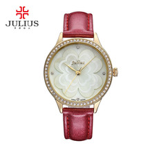 New Julius Lady Women s Wrist Watch Quartz Hours Best Fashion Dress Korea Bracelet Leather Shell